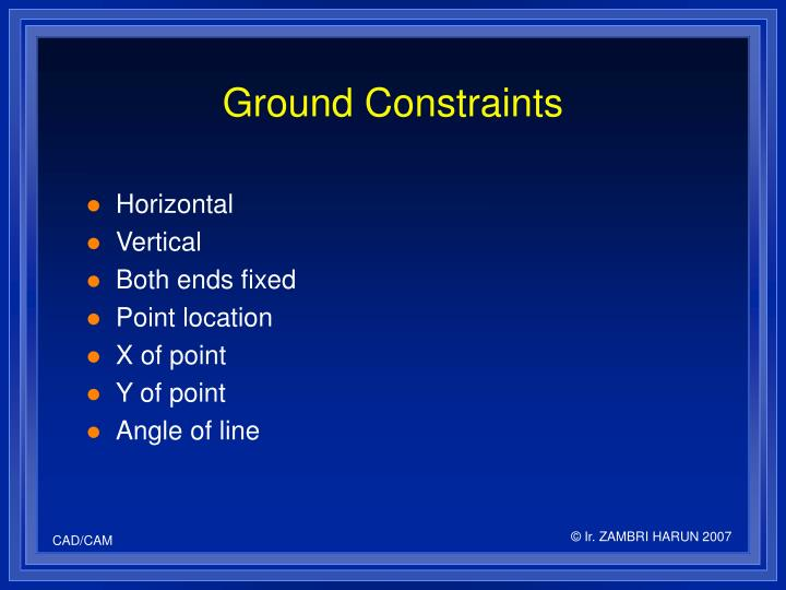 Ground Constraints