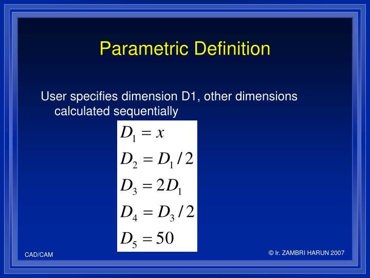 Parametric Definition