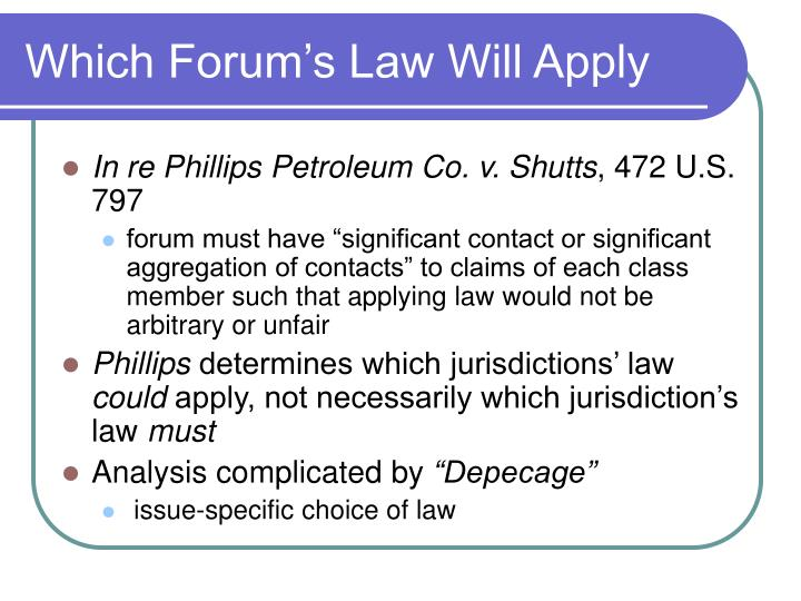Which Forum's Law Will Apply