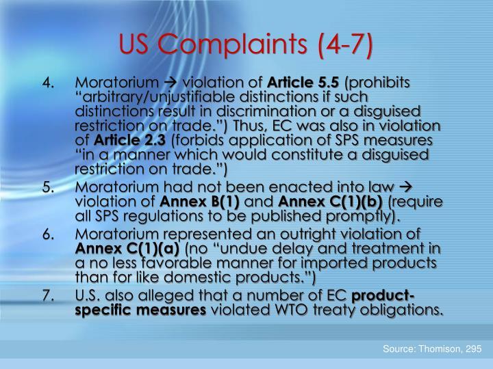 US Complaints (4-7)