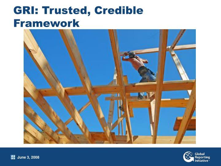 GRI: Trusted, Credible Framework