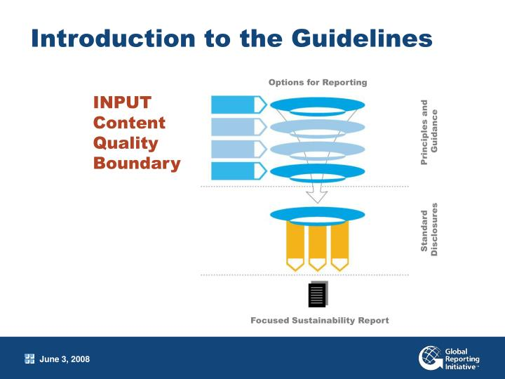 Introduction to the Guidelines