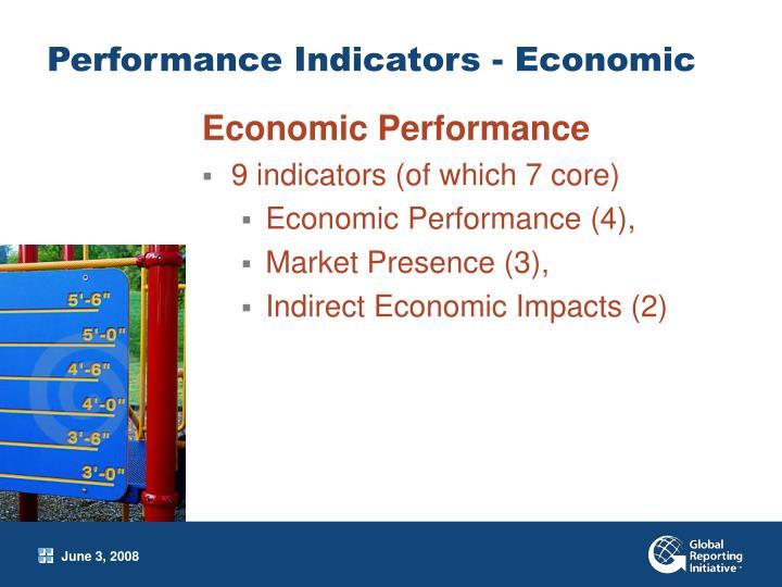 Performance Indicators - Economic