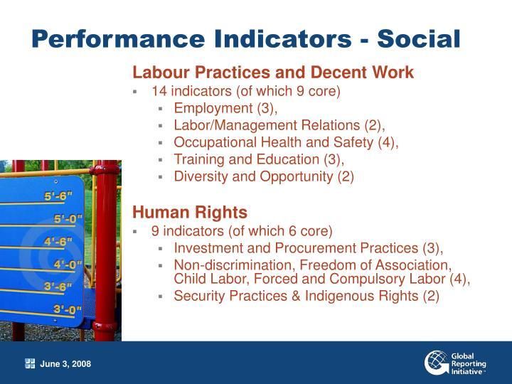 Performance Indicators - Social