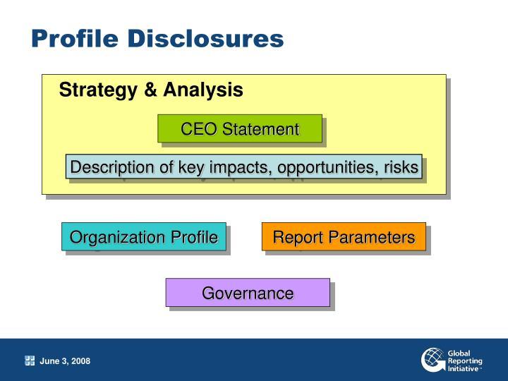 Profile Disclosures