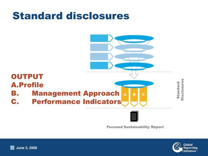 Standard disclosures