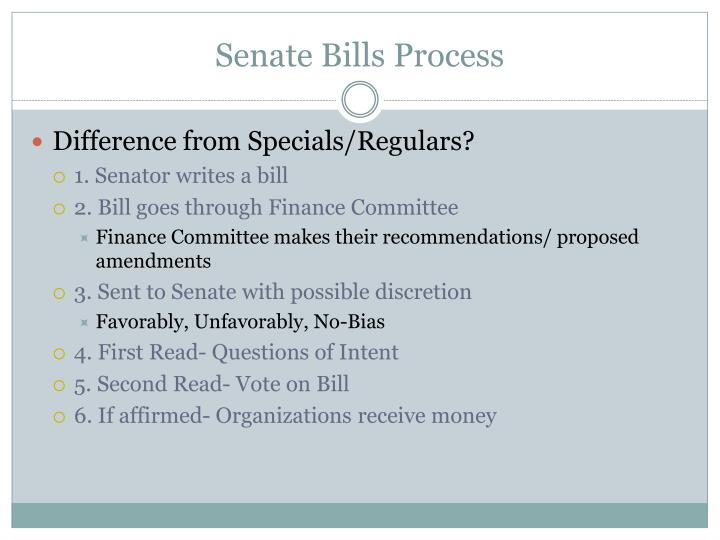 Senate Bills Process