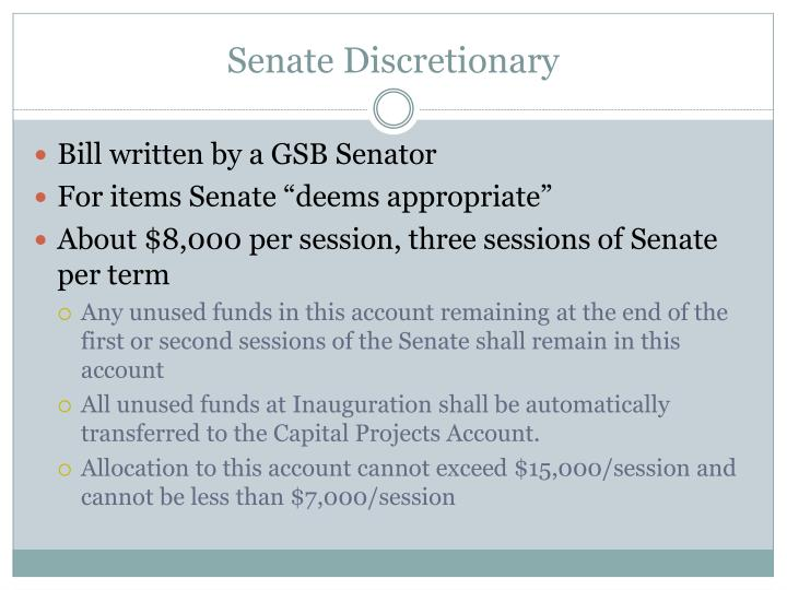 Senate Discretionary