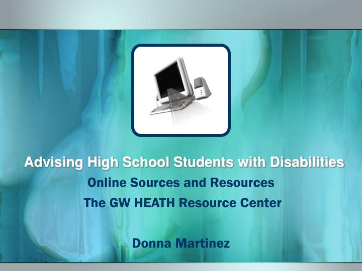 Advising high school students with disabilities