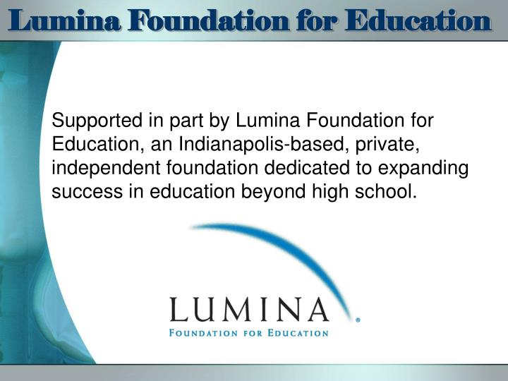 Lumina Foundation for Education