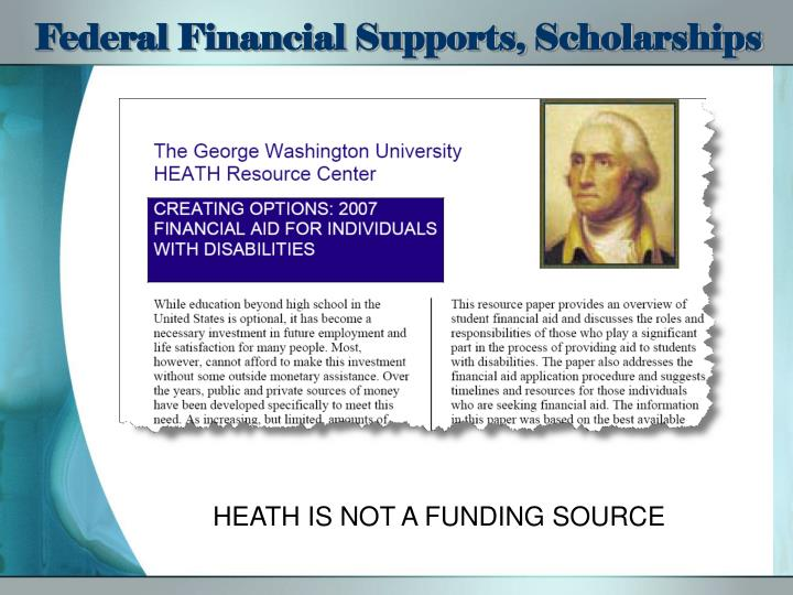 Federal Financial Supports, Scholarships