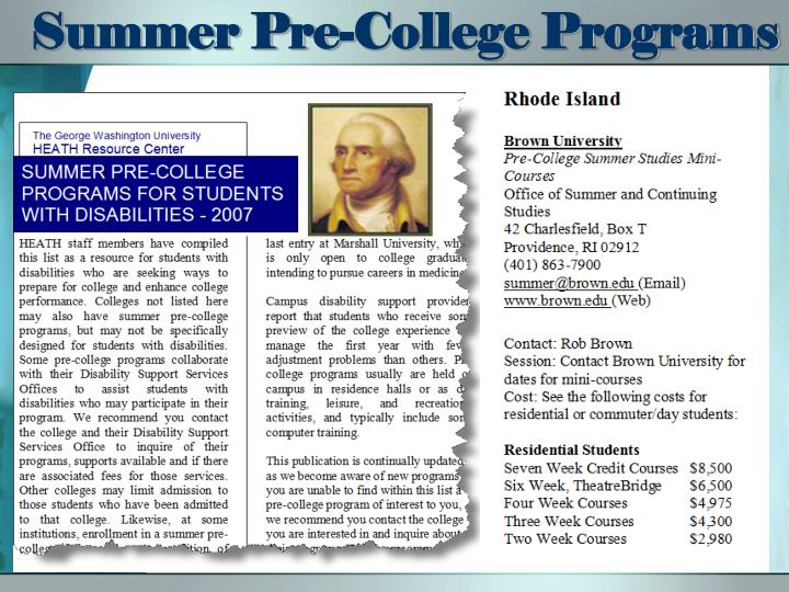 Summer Pre-College Programs