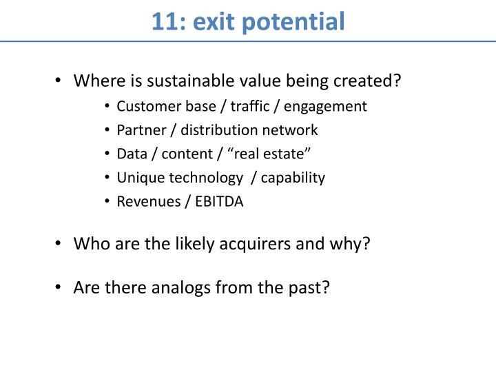 11: exit potential