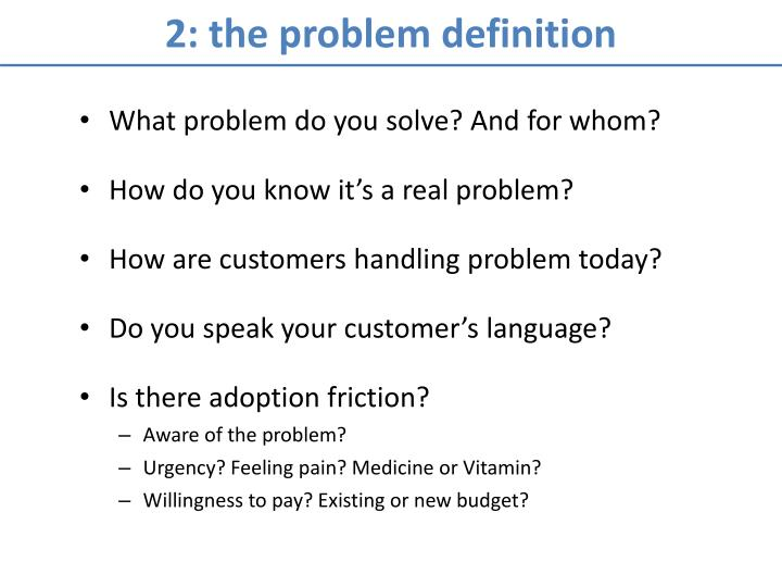 2: the problem definition