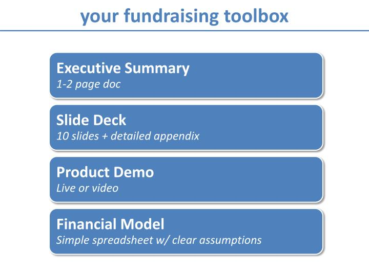your fundraising toolbox