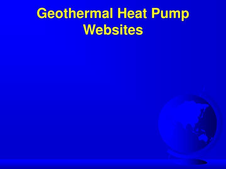 Geothermal Heat Pump Websites
