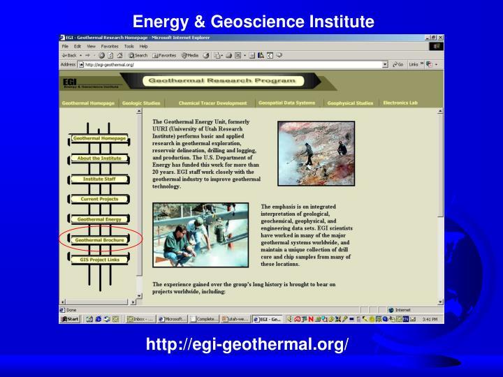 Energy & Geoscience Institute
