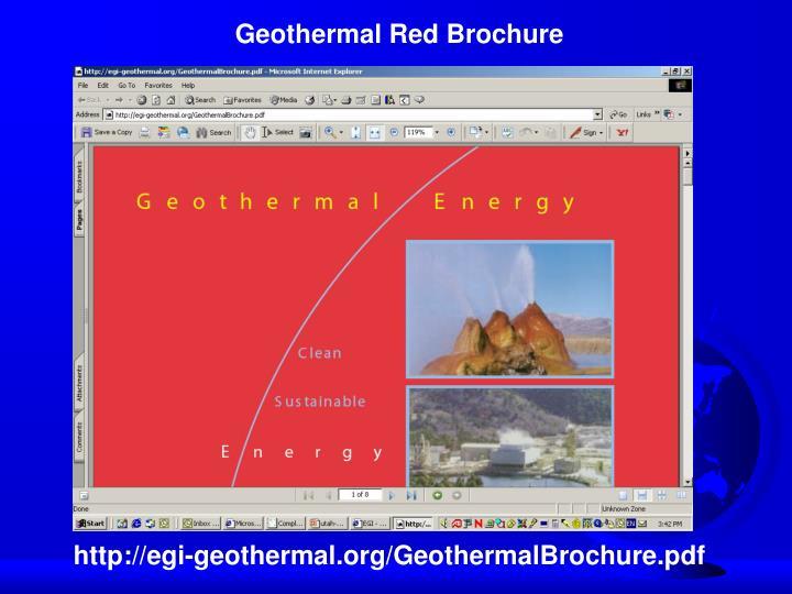 Geothermal Red Brochure