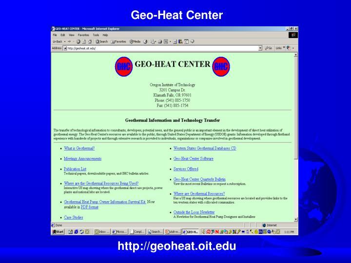 Geo-Heat Center