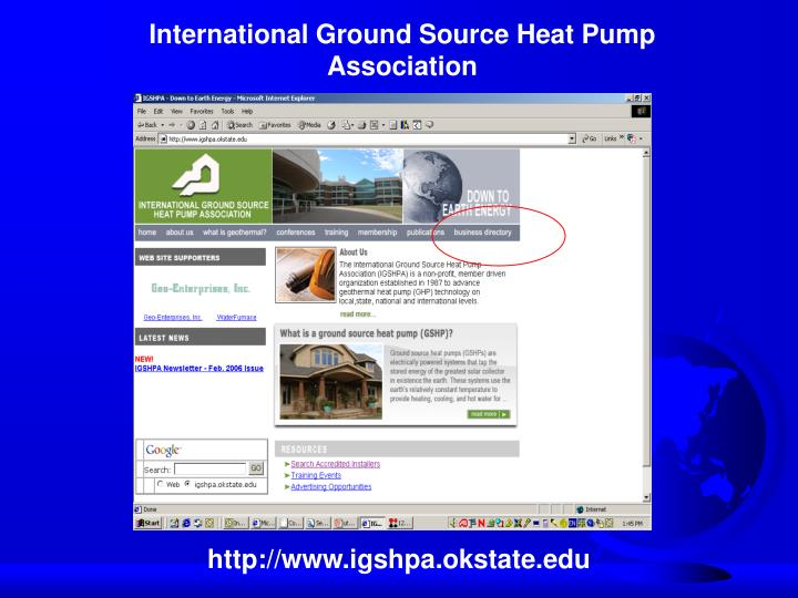 International Ground Source Heat Pump Association