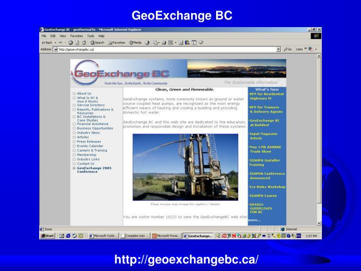 GeoExchange BC