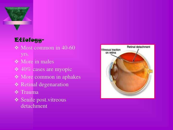 Etiology-