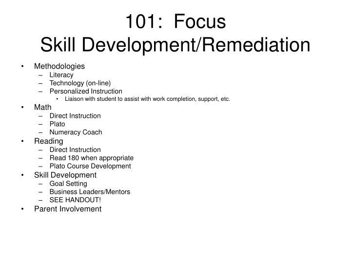 101:  Focus