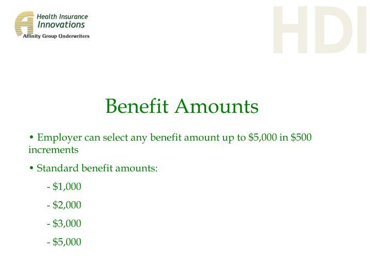 Benefit Amounts