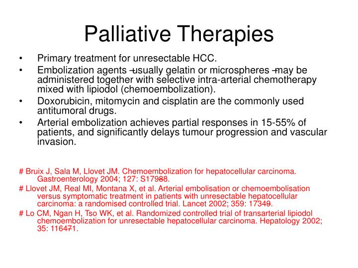 Palliative Therapies