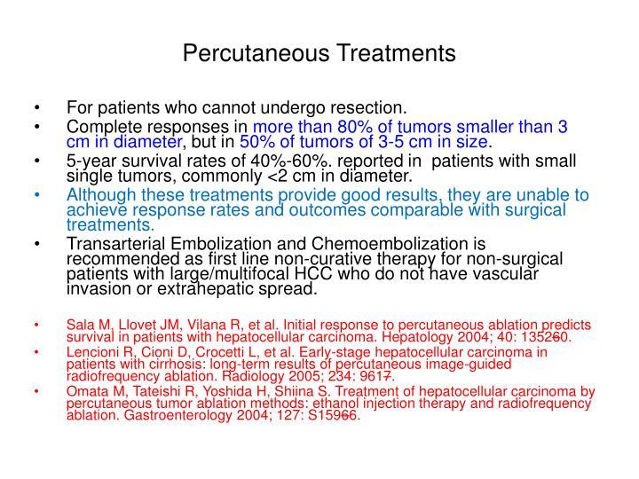 Percutaneous Treatments
