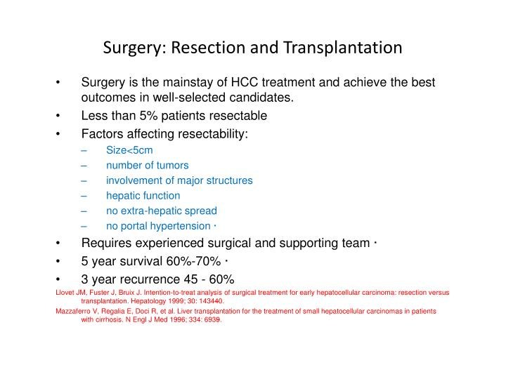 Surgery: Resection and Transplantation