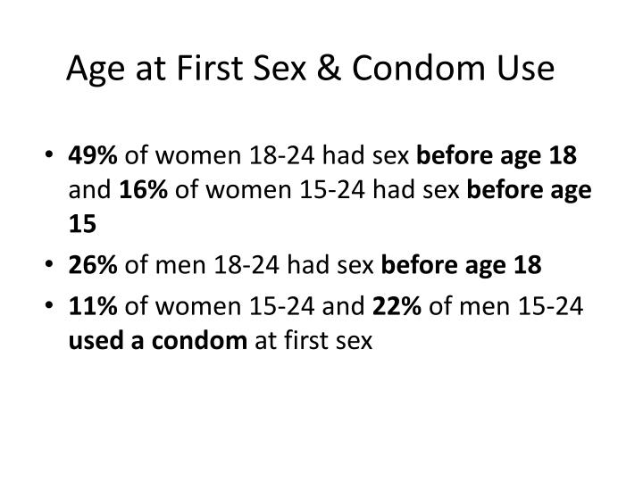 Age at First Sex & Condom Use
