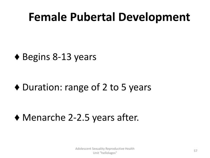 Female Pubertal Development