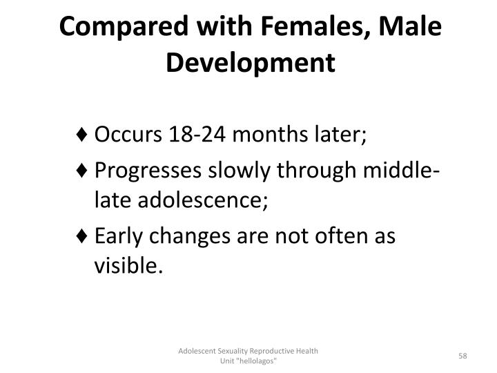Compared with Females, Male Development