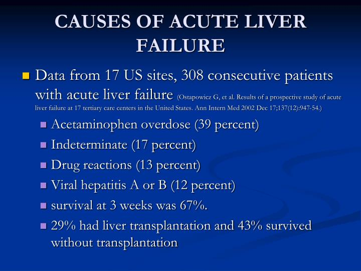 CAUSES OF ACUTE LIVER FAILURE