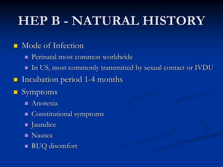 HEP B - NATURAL HISTORY