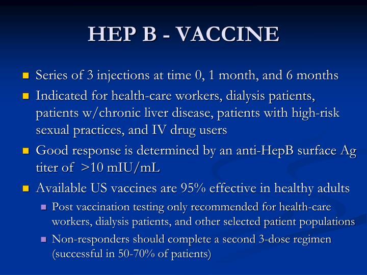 HEP B - VACCINE