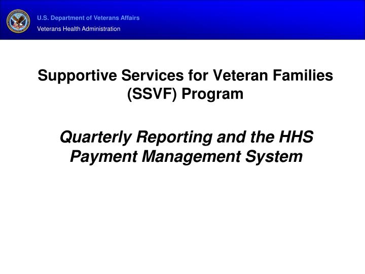 Supportive Services for Veteran Families