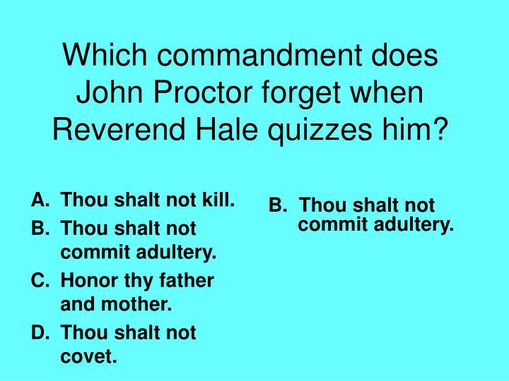 Thou shalt not kill.