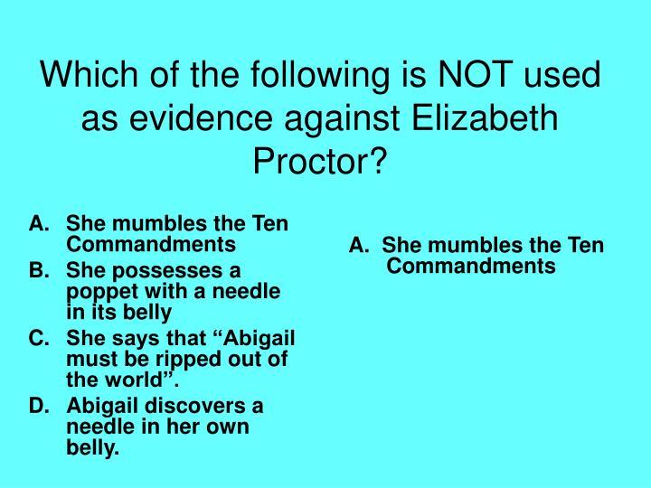 She mumbles the Ten Commandments