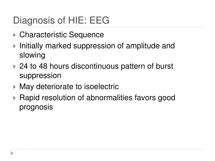 Diagnosis of HIE: EEG