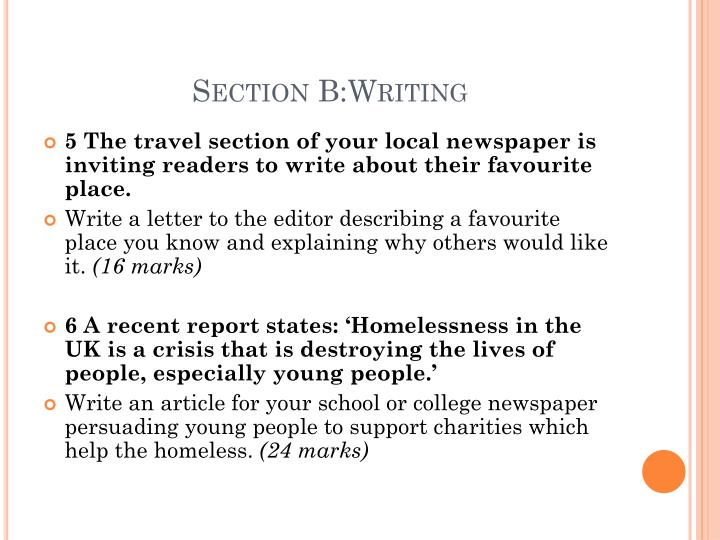Section B:Writing