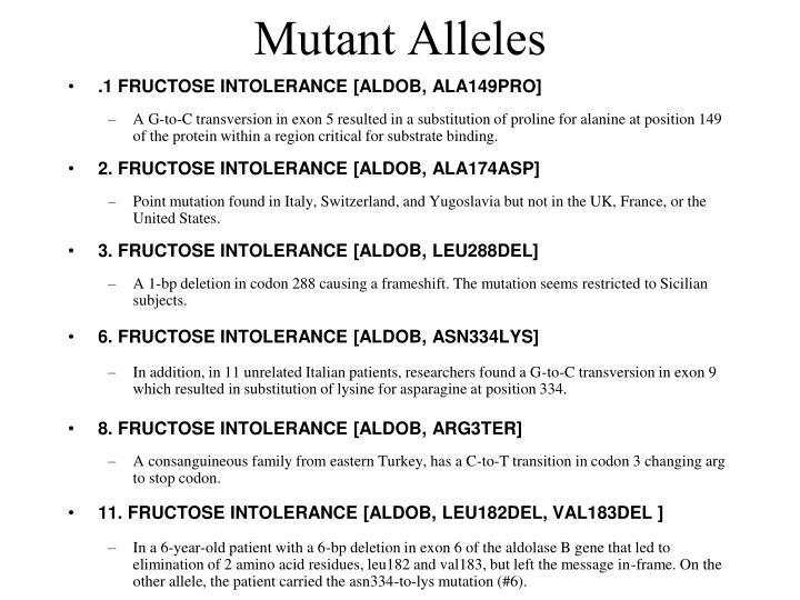 Mutant Alleles