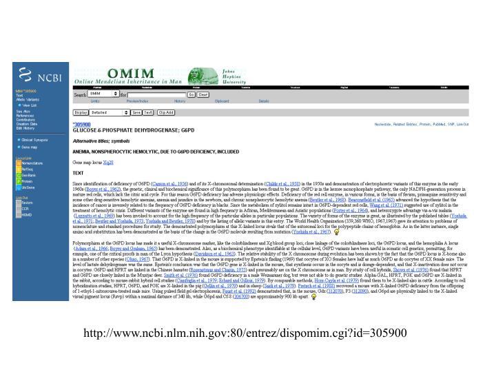 http://www.ncbi.nlm.nih.gov:80/entrez/dispomim.cgi?id=305900