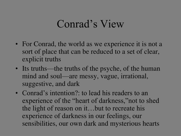 Conrad's View