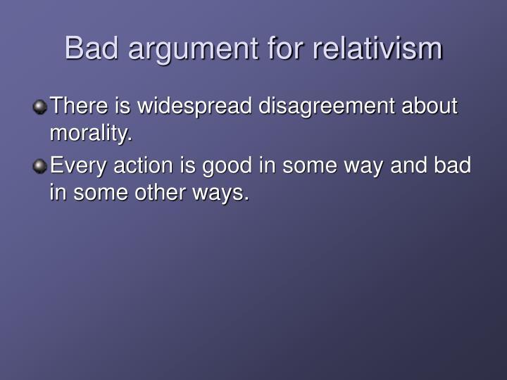Bad argument for relativism