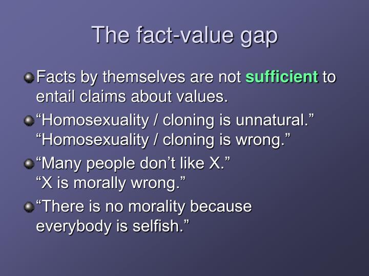 The fact-value gap
