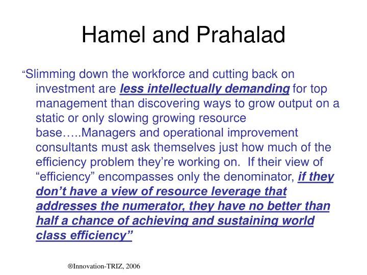 Hamel and Prahalad