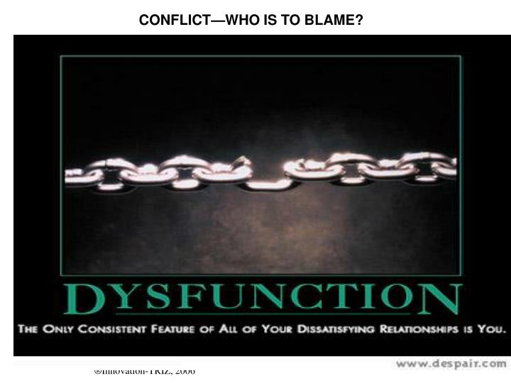 CONFLICT—WHO IS TO BLAME?
