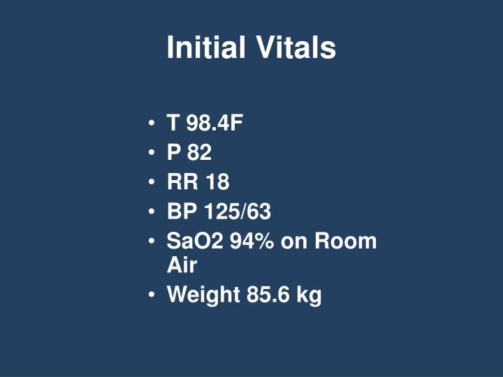 Initial Vitals
